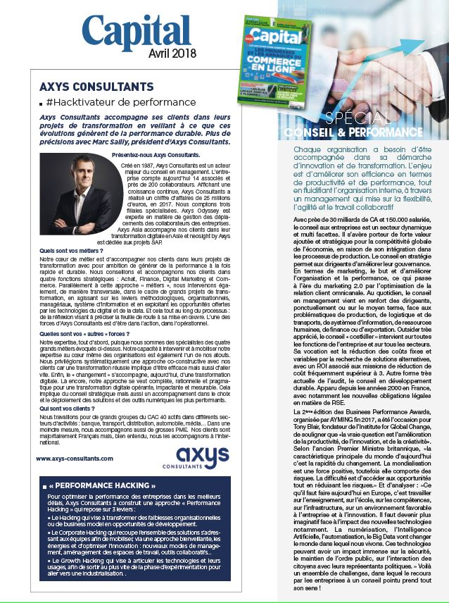 Article Conseil Capital Avril 2018 Axys Consultants